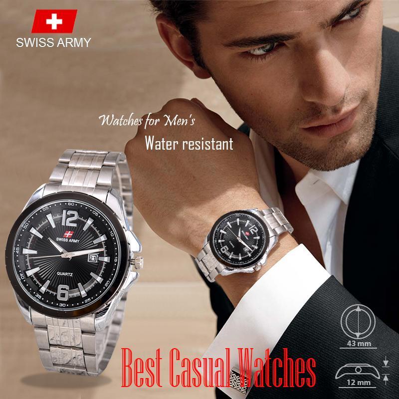 Swiss Army - Casual Watches - Jam Tangan Pria - TGL - Stainless Steel - 4U-Store