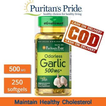 Harga Penawaran Puritan Odorless Garlic 500 mg 250 softgels Puritan Pride Premium Impor USA Menjaga Kadar