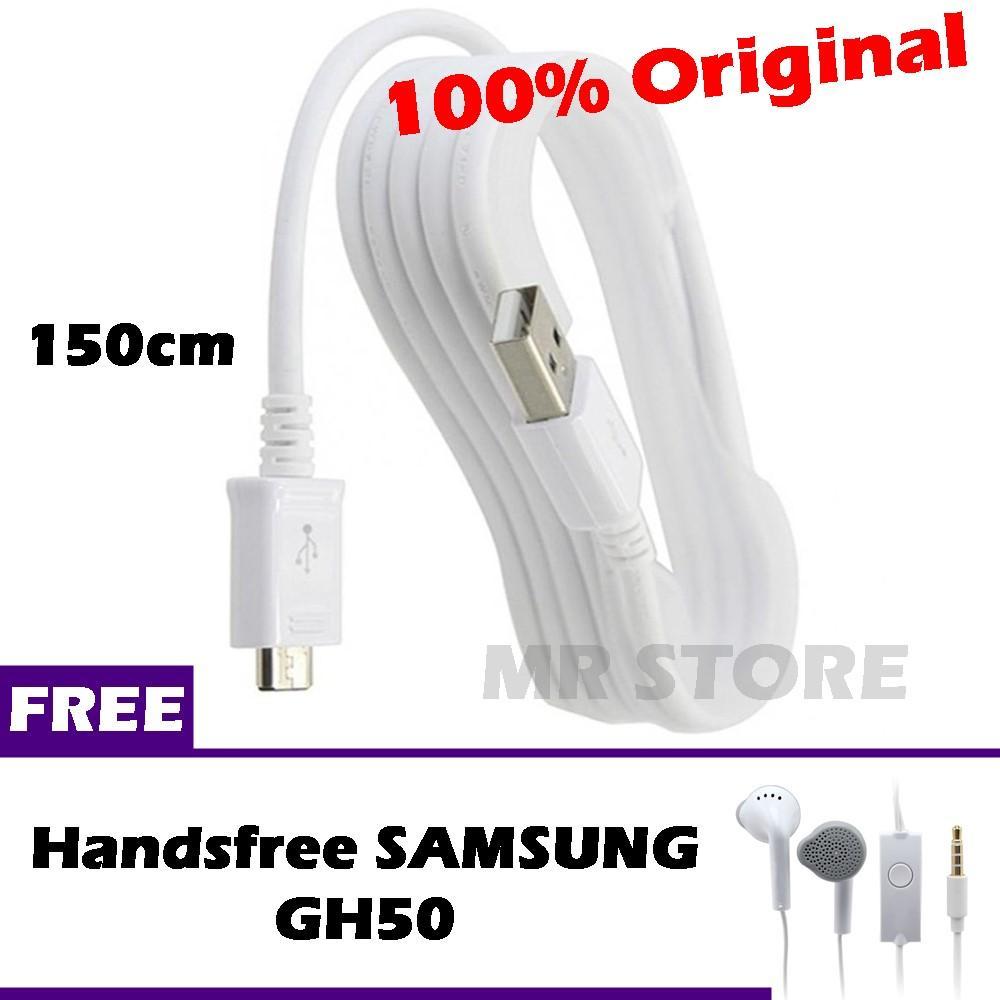 Kabel Data SAMSUNG Original Fast Charging Micro USB 150cm for Galaxy Series + Gratis Handsfree SAMSUNG GH50