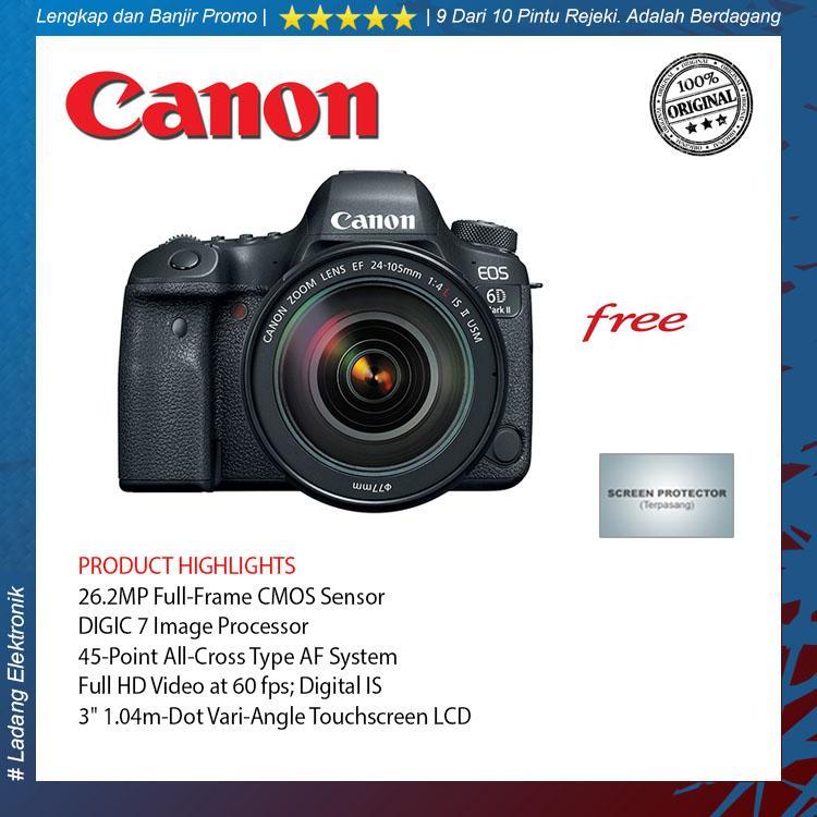 Canon EOS 6D Mark II kit 24-105mm F-4 Kamera DSLR Garansi Resmi
