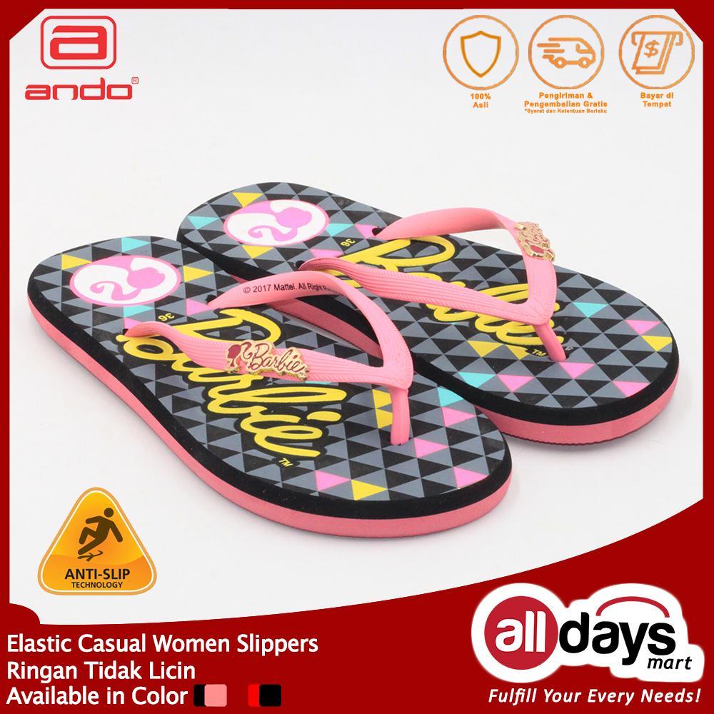 Alldaysmart Ando Sandal Jepit Perempuan Barb 808 - Fushia/Hitam Size 36-40