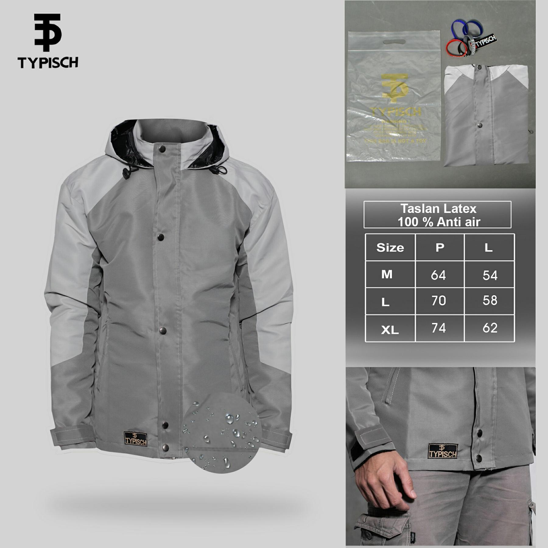 Jaket Taslan Four Color Anti Air/ Waterproof 100% Man Clothing