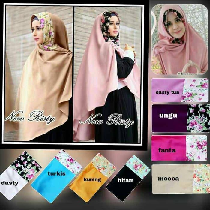 hijab jilbab kerudung KHIMAR RISTY FLOWER