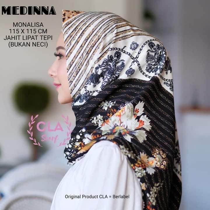 YANTI --FASHION Hijab Segi Empat MONALISA Terbaru