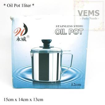 Pencari Harga Oil pot 1,1liter stainless steel tempat penyaringan minyak serbaguna terbaik murah - Hanya Rp57.760