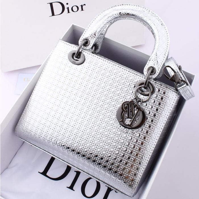 BEST SELLER-TAS CHRISTIAN DIOR LADY WITH MARCO CANNAGE GLOSSY 3322  47125  ss. 21dbdcf124