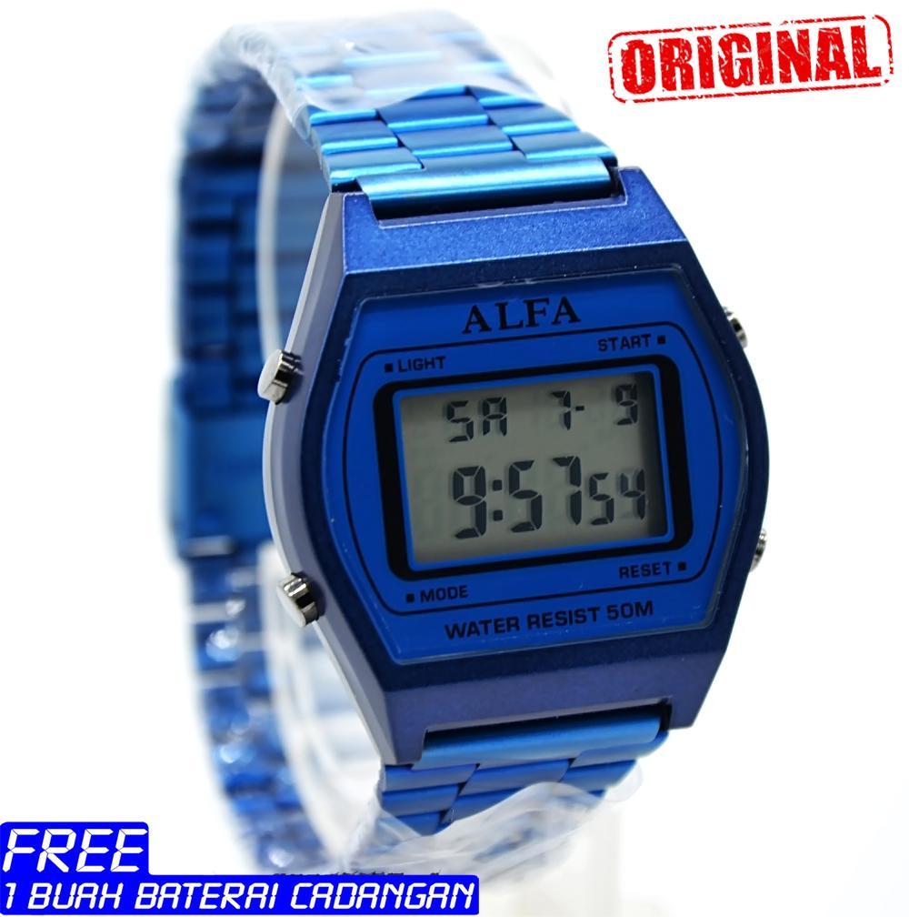 jam tangan pria Alfa 8010 Stainlesstell Strap Rantai