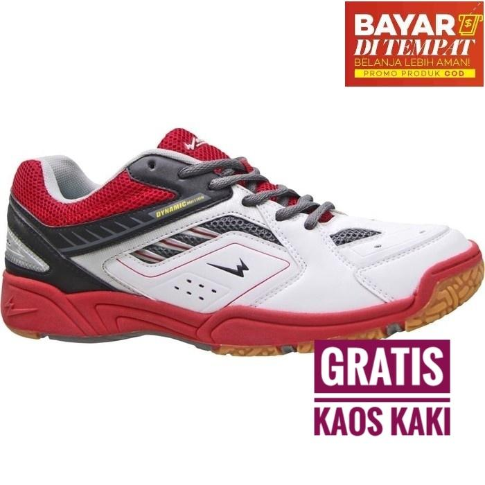 Eagle Ranger Sepatu Badminton - White Red 934077efe3