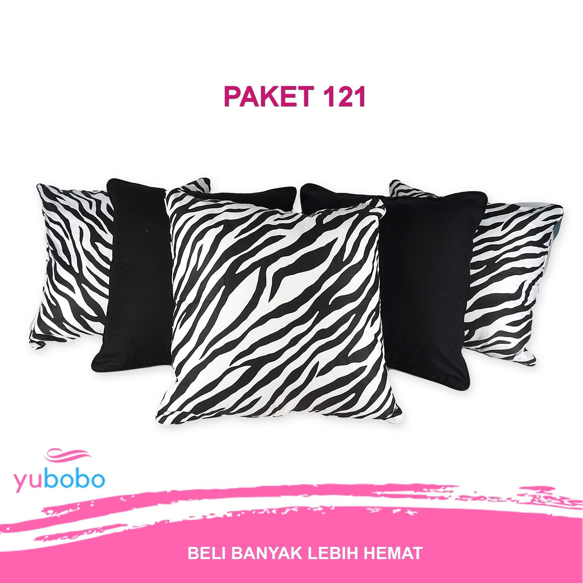 Paket Sarung Bantal Sofa (1 Set / 5 Pcs) Kursi Tamu  (Hanya Sarung) - Yubobo