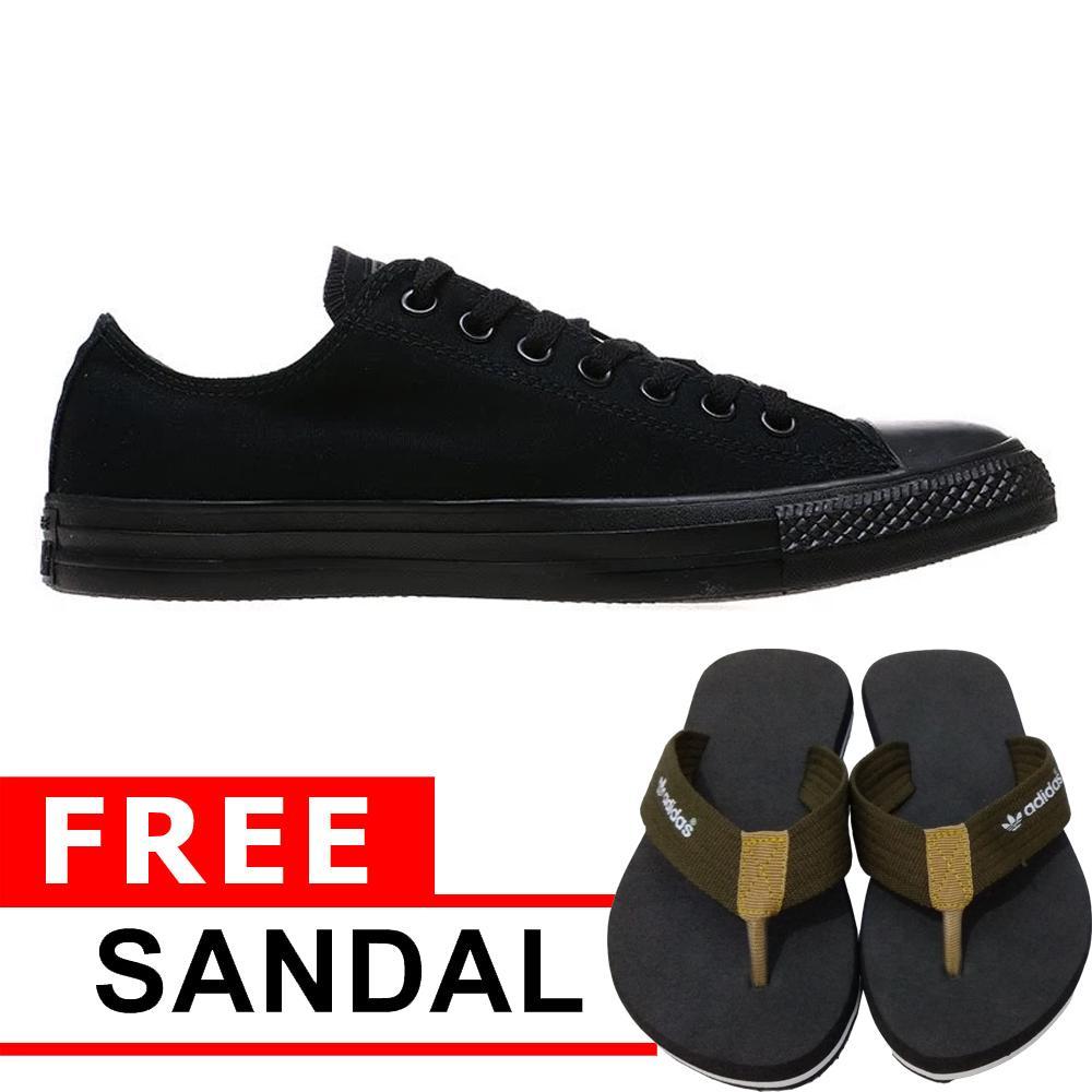 Just Cloth Sepatu Wanita Sneakers Casual All Star Sepatu Pria Unisex Model PENDEK+ Gratis Sendal Jepit