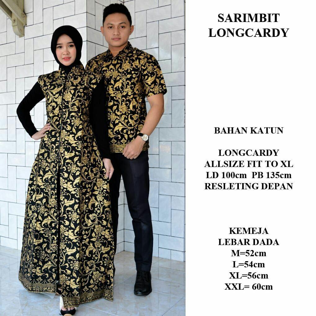 Sarimbit Hem Longcardi Batik Bakung Modern