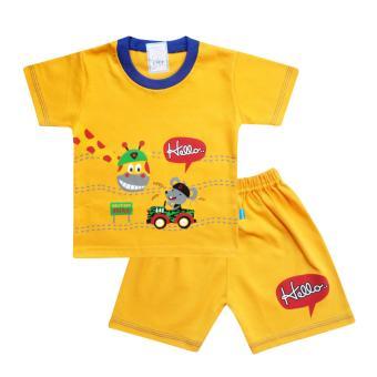 Bandingkan Toko SKABe Baby Warna Tua Baju Anak Laki Laki Tangan Pendek Setelan Kaos 2749 sale