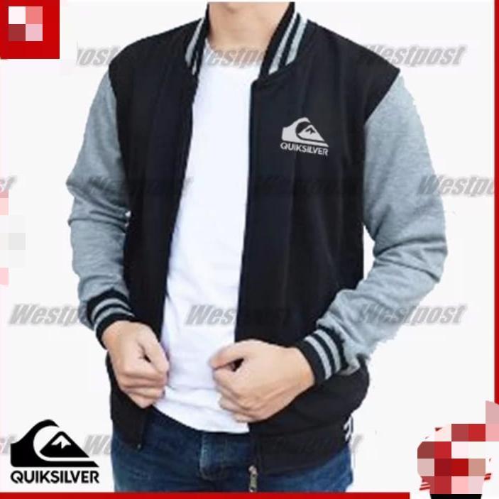 Jaket zipper sweater Bomber quiksilver kombinasi warna