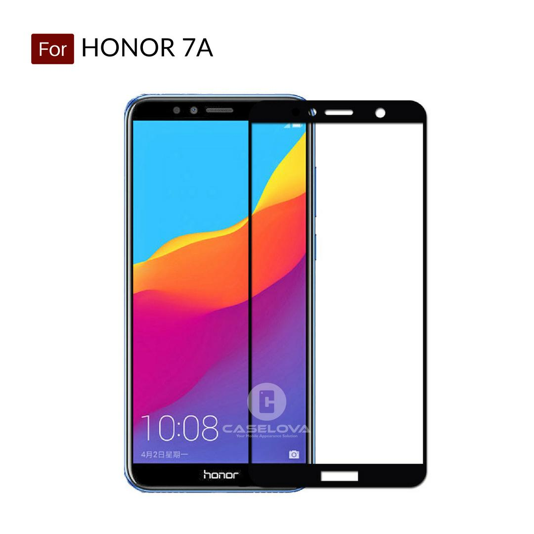 Caselova Premium Tempered Glass Warna Full Cover For Huawei Honor 7A - Hitam