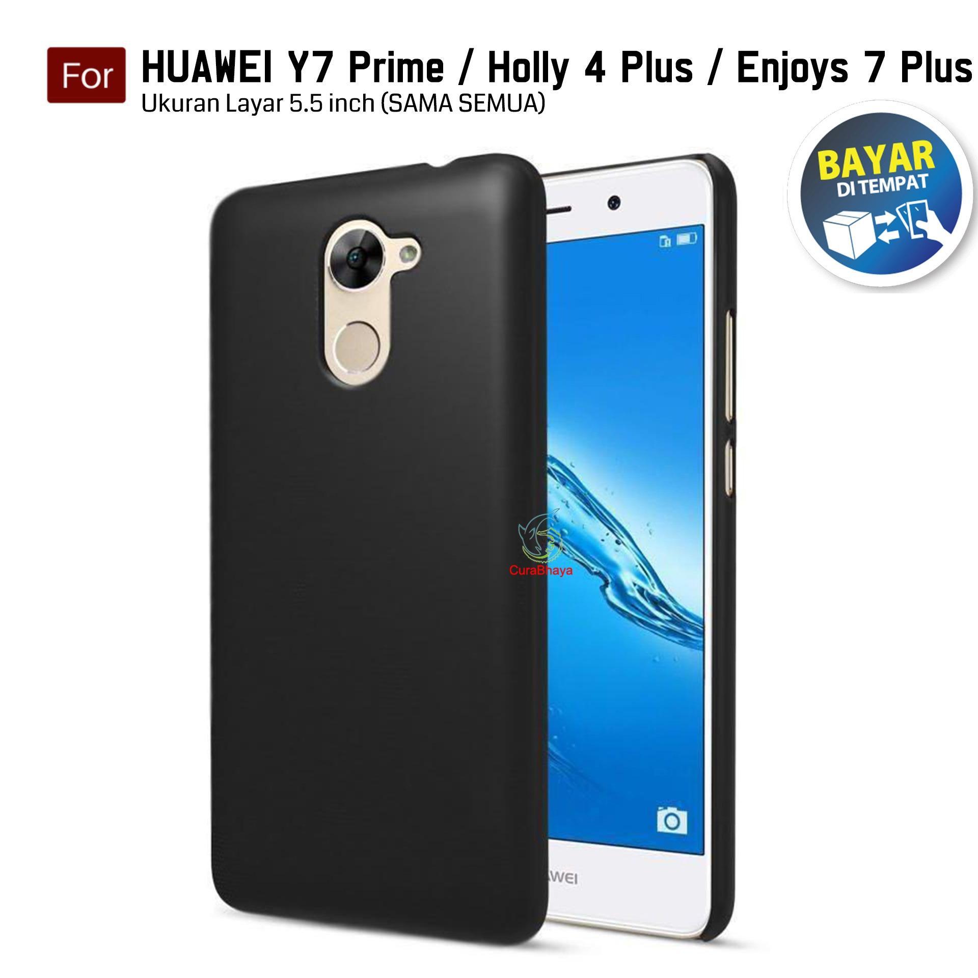 Midnight Huawei Y7 Prime / Holly 4+ Plus / Enjoys 7+ Plus | Slim Case Black Matte Softcase Premium Baby Skin - Hitam