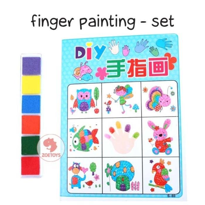 PROMO!!! Zoetoys Finger Painting - Set   mainan edukasi anak   edutoys - OK62VU