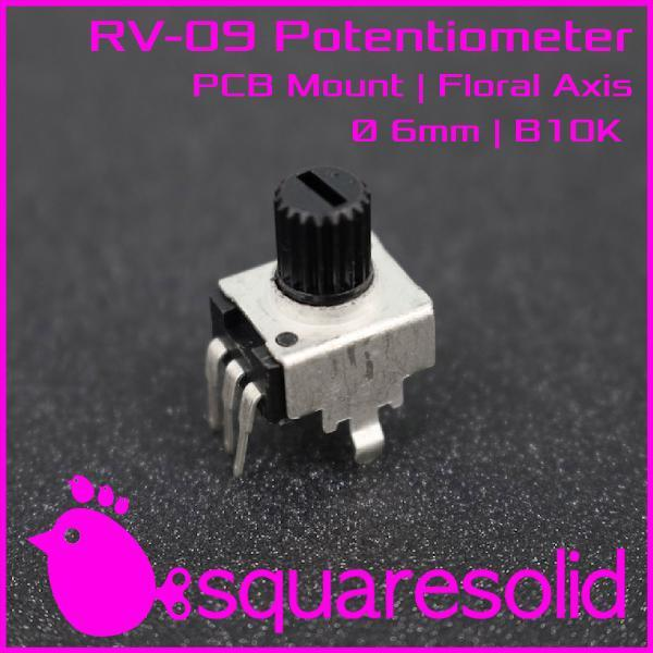 MINI RV09 B10K 10K POTENTIOMETER POTENSIOMETER POTENSIO - SQUARESOLID PELAPAK LEGENDARIS