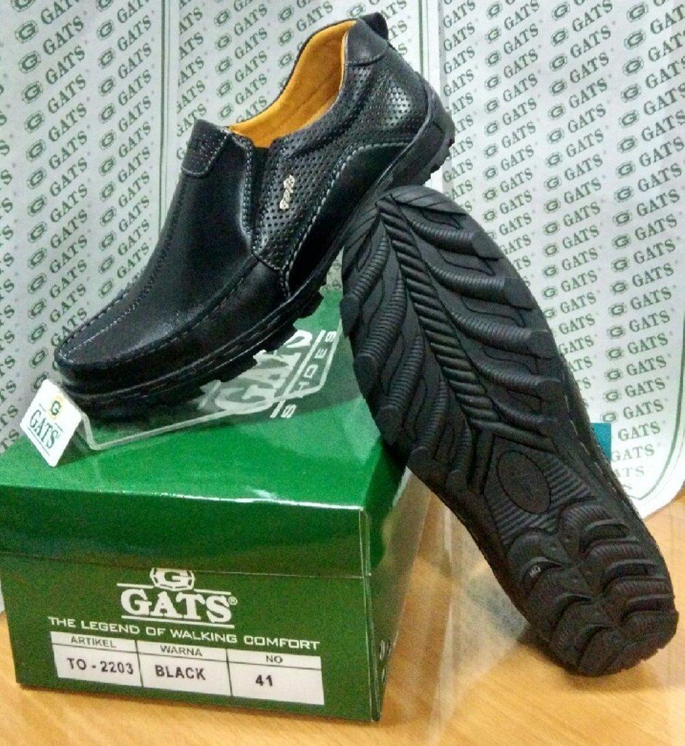 Sepatu Casual Keren Pria Gats Original Black Murah