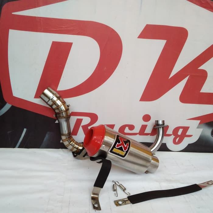 Knalpot Racing Yamaha Mio J Akrapovic Monster Red Series By Dk Racing Bekasi.
