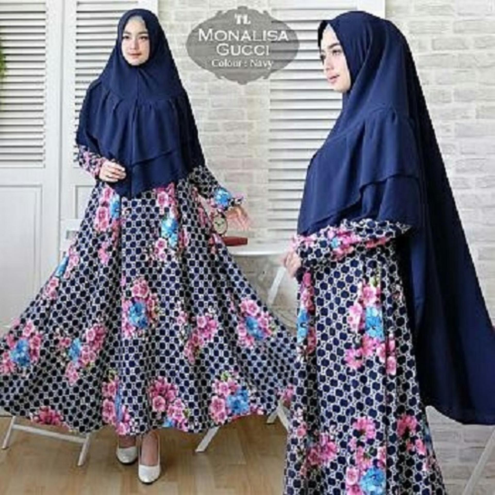 Fastawal Collection - Gamis Wanita Syari - Gamis Muslimah Fashionable - Syari Monalisa Gucci