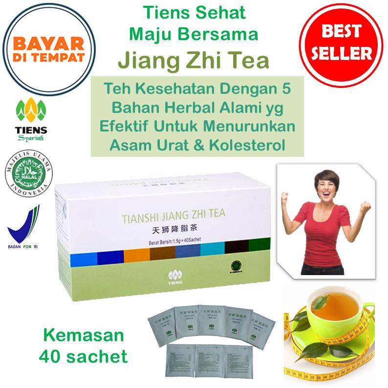 Tiens Teh Penurun Asam Urat Jiang Zhi Tea / Teh Herbal Penurun Kolesterol / Paket Promo [40 Sachet]