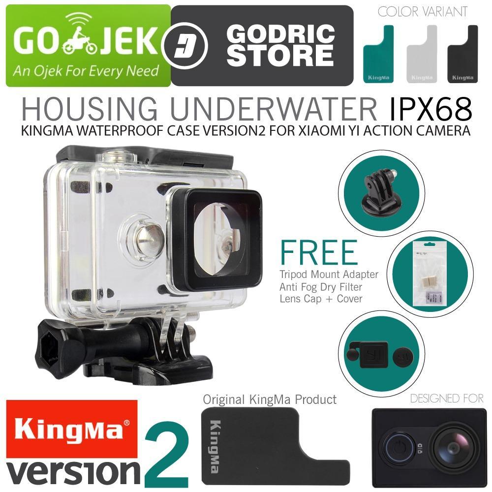 KingMa Original Waterproof Case for Xiaomi Yi Action Camera Bundle - Hitam + Gratis Paket Hadiah