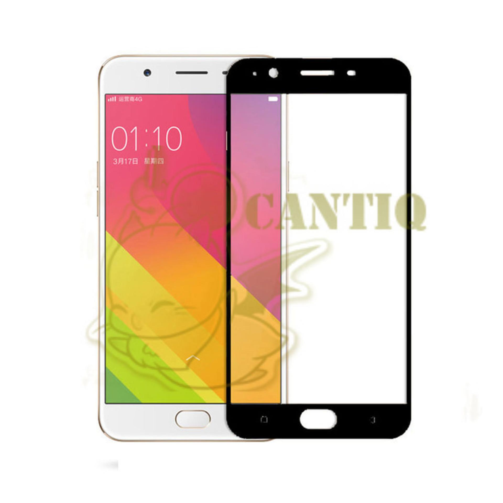 QCF Tempered Glass Full Screen Oppo F1S Selfie Expert A59 (Only Depan) / Screen Protector Oppo A59 / Temper Oppo A59  - Hitam