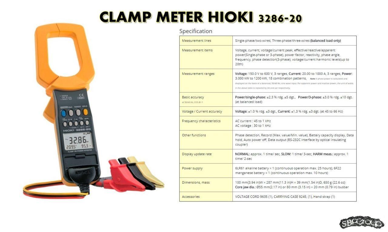 Harga Hioki Clamp On Acdc Hitester 3285 Terbaru Kini Meter 3280 20 Ac 1000a True Rms 3286