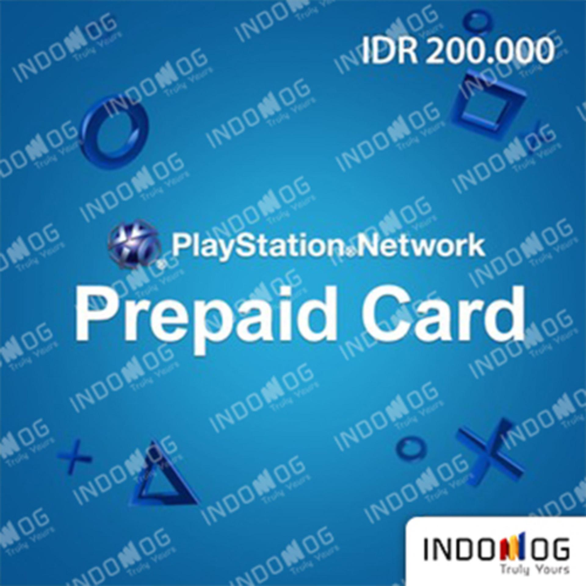 Indomog Playstation Store Prepaid Card 200.000