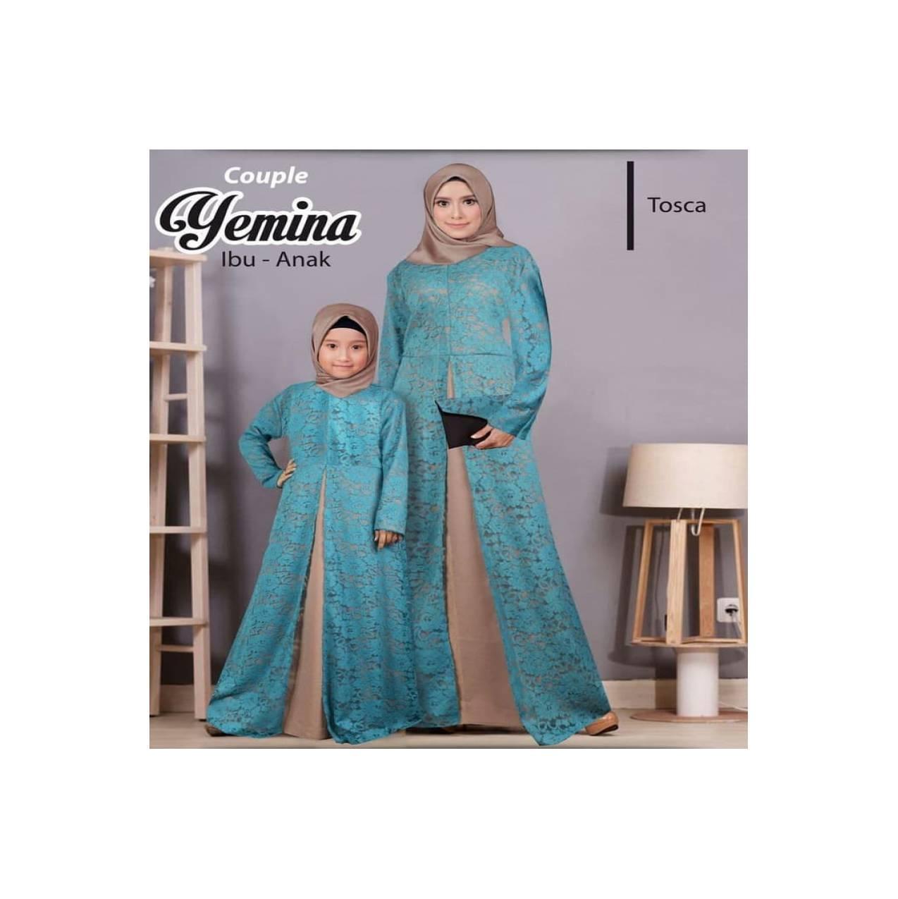 Baju Gamis Couple ibu dan Anak - Gamis Couple yemina tosca