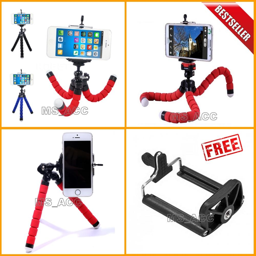 Universal Tripod Mini / Tripod Spider Untuk Hp & Kamera Pocket / Camera Action + Bonus Holder U - Warna Random [ ms acc ]