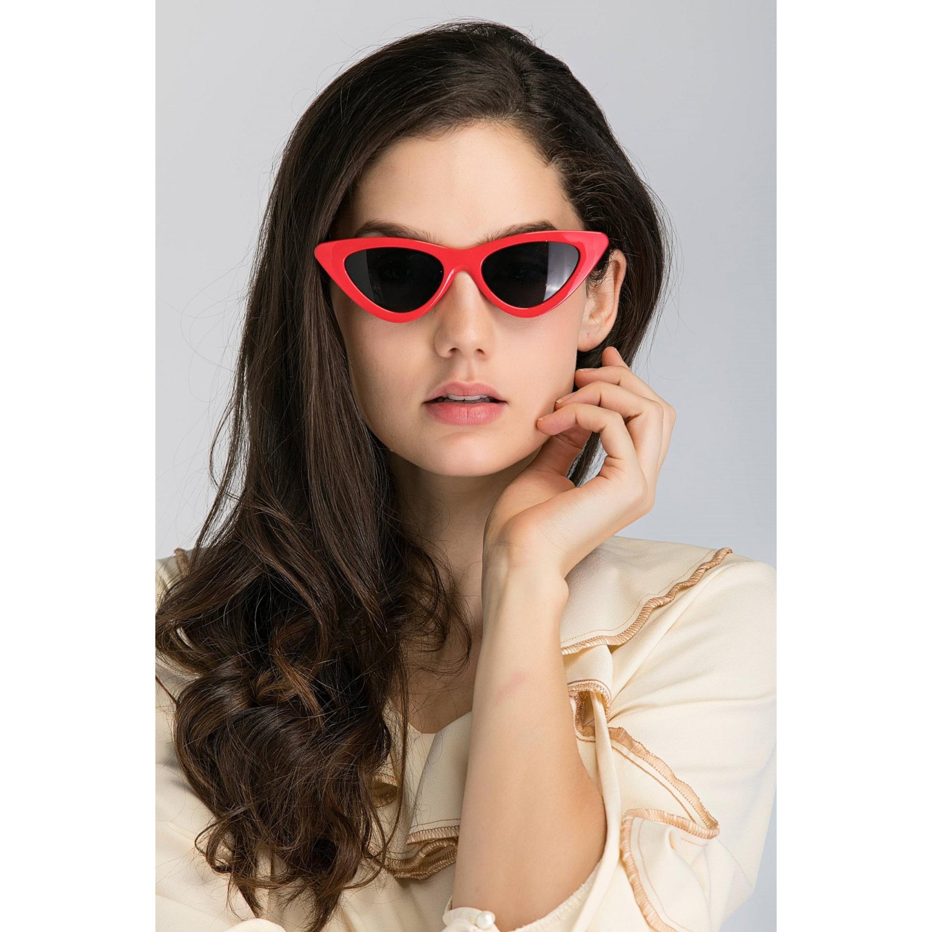 Cat Eye Fashion Vintage Sunglasses TR9066 L - Kacamata Wanita UV 2660fefc16
