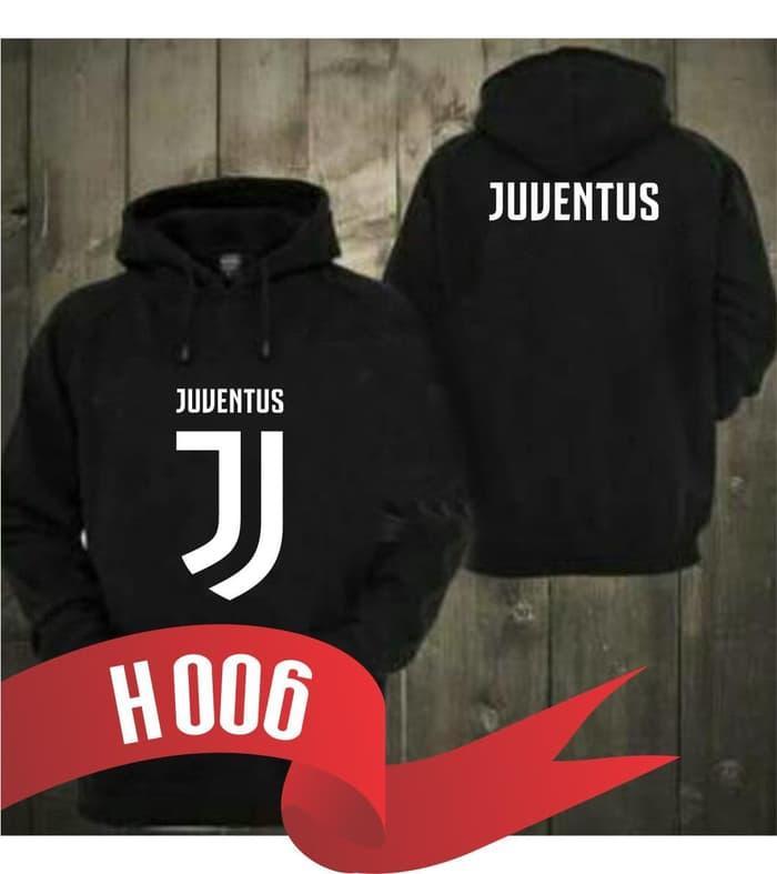 HARGA SPESIAL!!! H006 Polos Jaket Hoodie Bola Sweater Jumper New Logo Juve Juventus