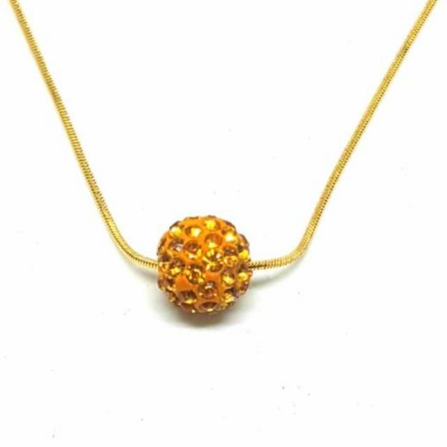 Kalung Titanium Anti Karat Selamanya (gold) Kt143 By Pusat Grosir Aksesoris.