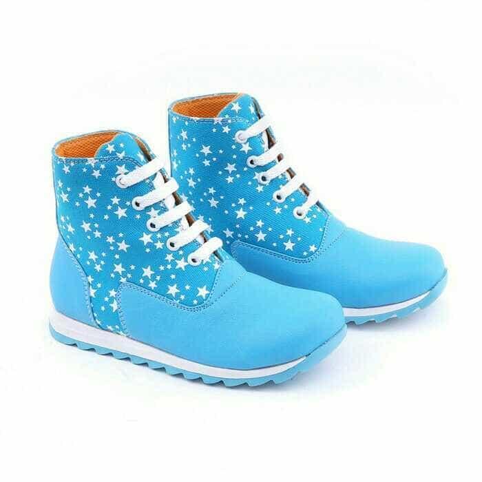 Murah Meriah boot sepatu anak wanita murah-sepatu pesta anak Blue grc murah ori