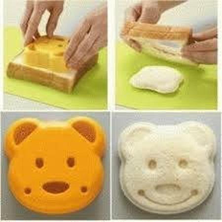 Promo cetakan roti motif bisa juga buat nasi kepala beruang / bread mold original