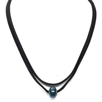 Harga preferensial OFASHION Aksesoris Kalung CA-180314-K008 Necklace Fashion Xuping Jewelry Hitam Hijau