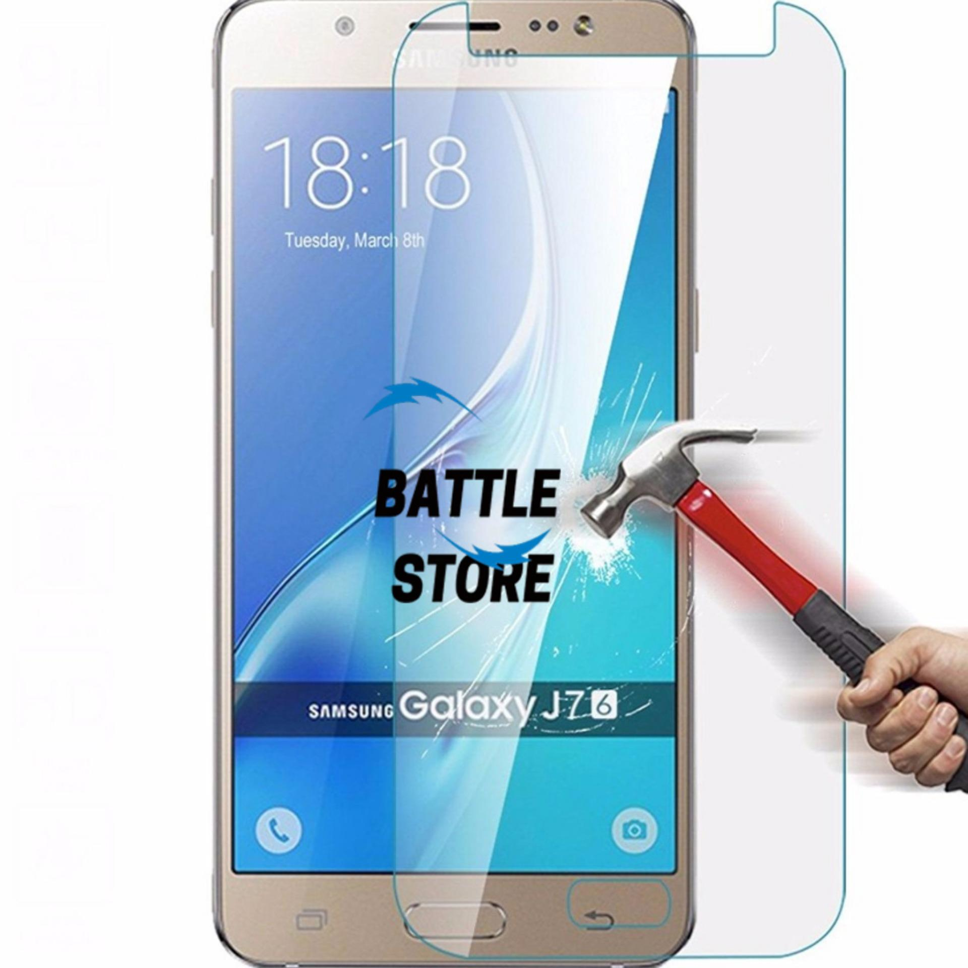 Samsung Galaxy J7 2016 / J710 Screen Protector Tempered Glass / Anti Gores Kaca - White Clear