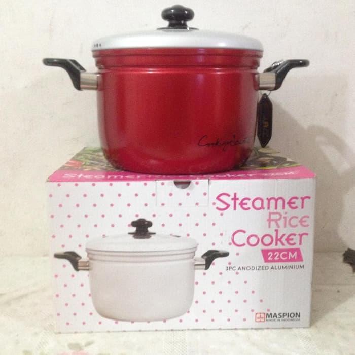 Original Maspion AA L PGUNK 22 Steamer Rice Cooker 22 cm Panci Panca Guna