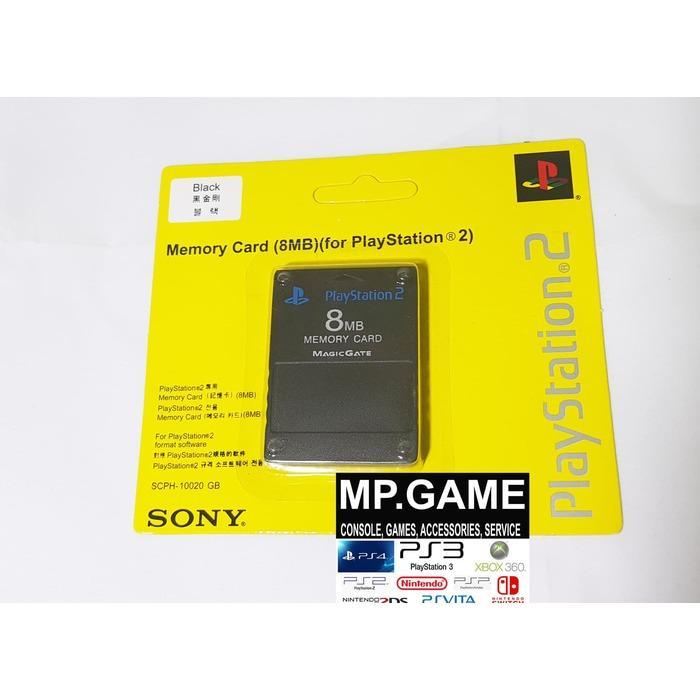 Sony memory card PS2 8MB HITAM