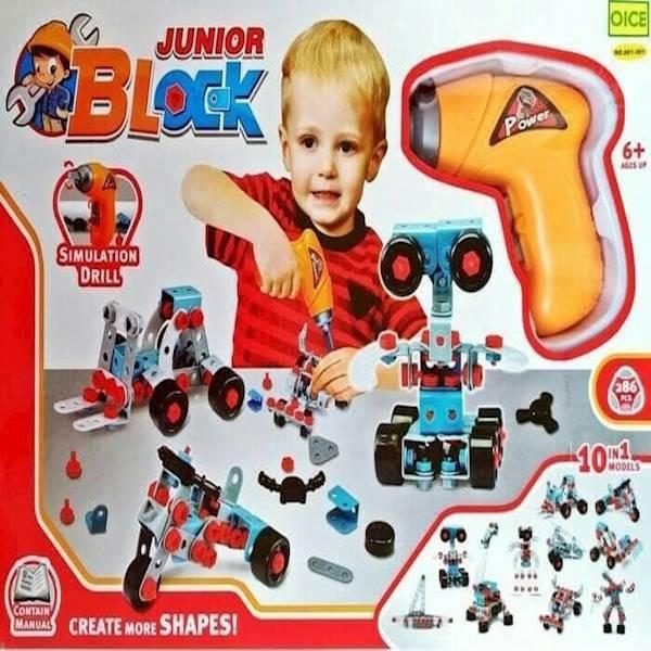 Mainan Anak Edukasi Junior Block Builder 286Pcs