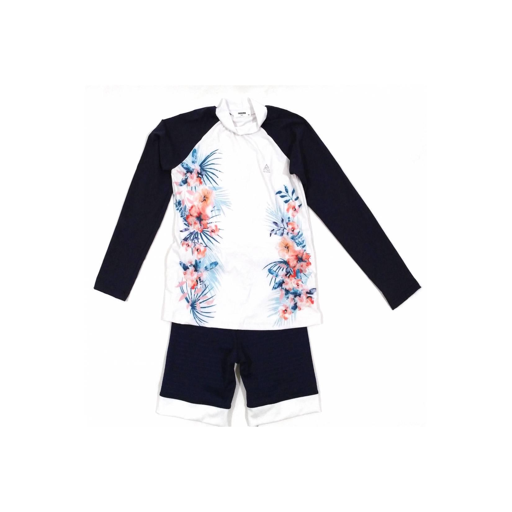 Baju Renang Diving Set Lengan Panjang Renoma Bunga Import Anak Cewe