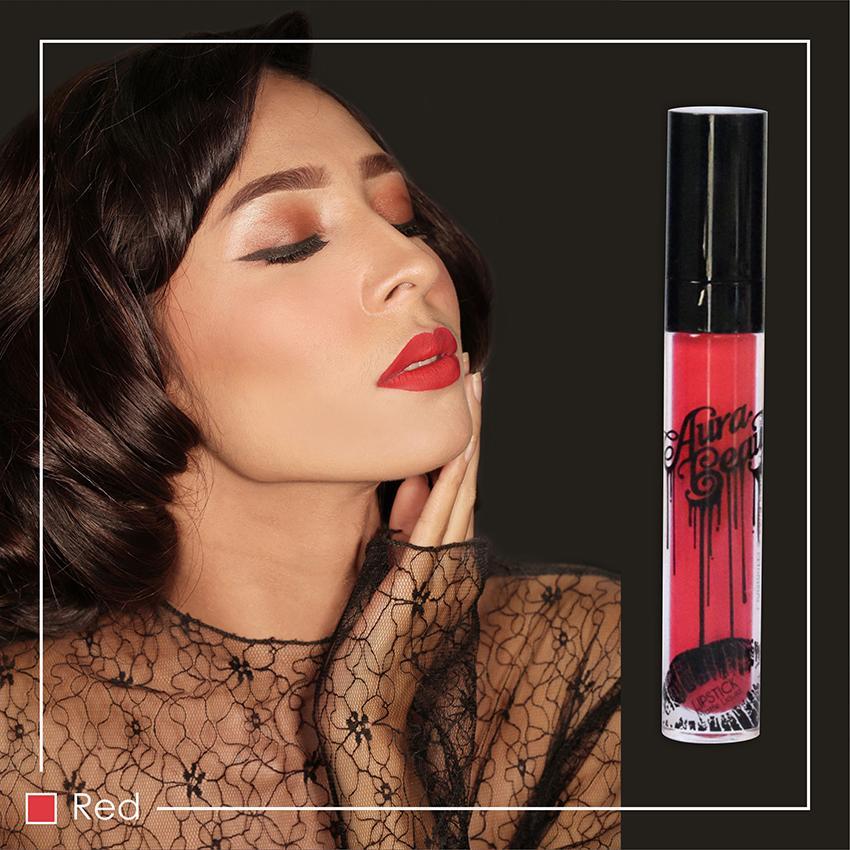 AURA BEAUTY Lipmatte Lipstik Cream Matte - Red - BEST SELLER PROMO PALING MURAH 100%