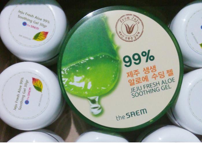 (SHARE IN JAR 30gr) THE SAEM Jeju Fresh Aloe Vera 99% Soothing Gel