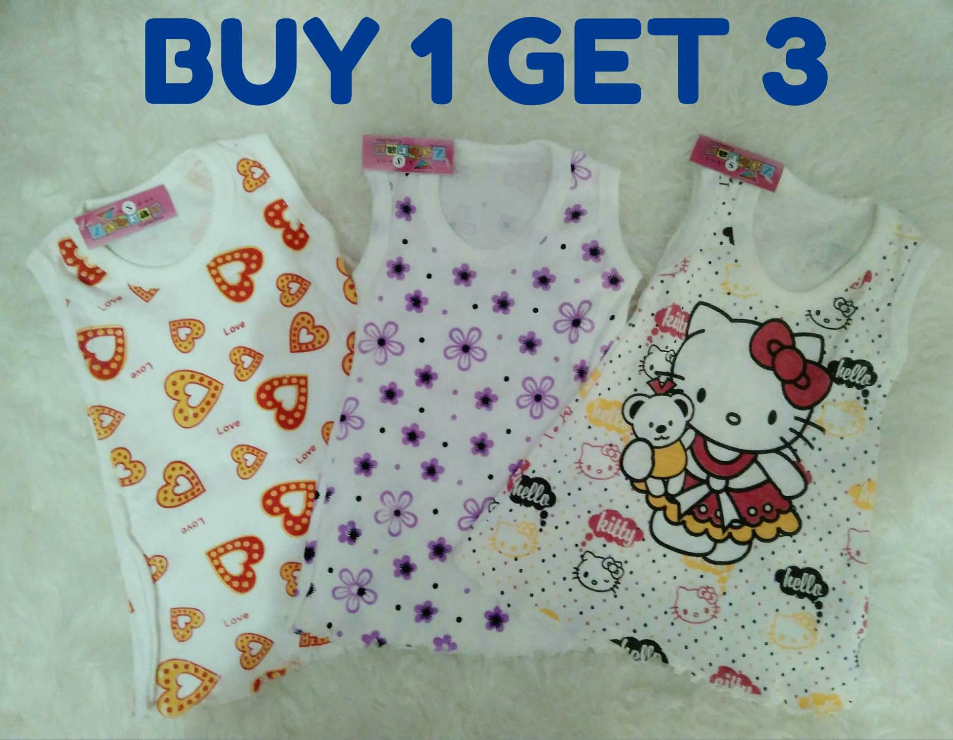 Buy Sell Cheapest Dress Baju Anak Best Quality Product Deals Macbee Kids Singlet Candytuft Flowers 1 Get 3 Bayi Daster