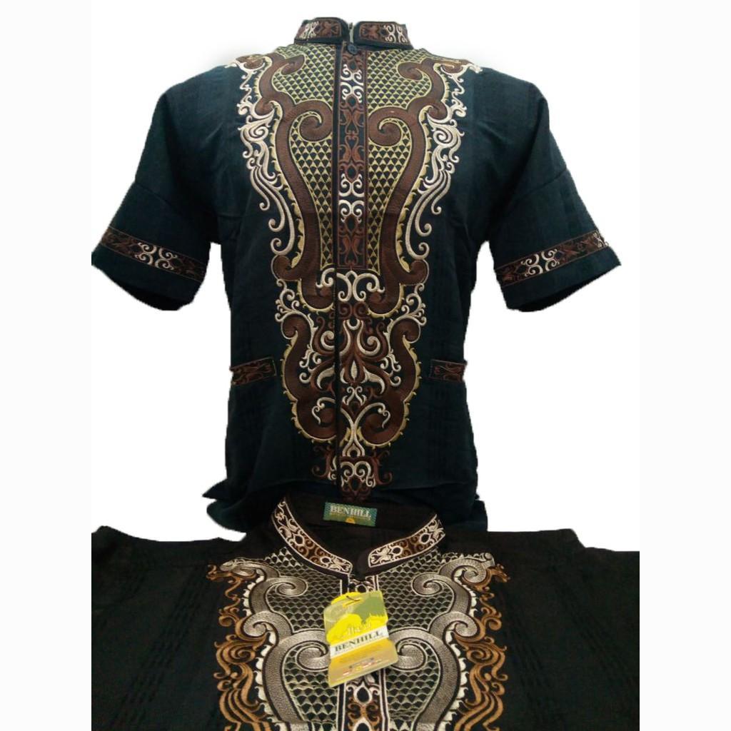 Baju Koko Benhill Lengan Pendek Pria Benhill Muslim (M)