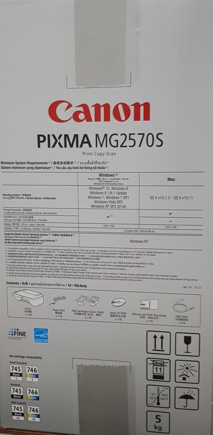 CANON PRINTER PIXMA MG2570S / PRINTER ALL IN ONE MG 2570 S RESMI