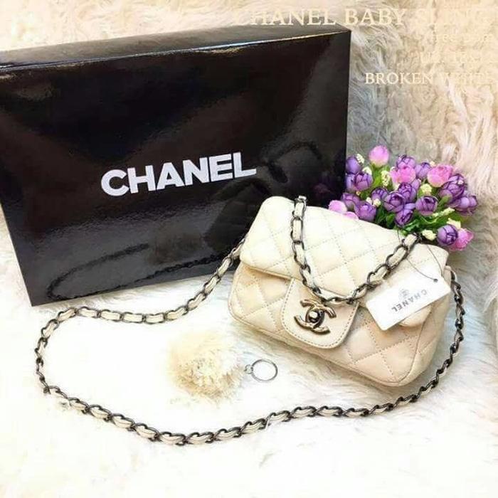 DISKON chanel baby sling bag chanel mini tas fashion wanita tas jakarta