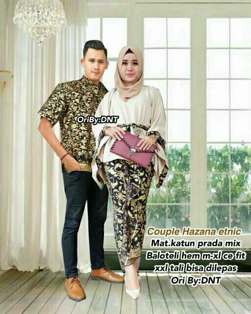 TERMURAH - Batik Terbaru / Batik Couple / Baju Muslim Wanita Terbaru 2018 / Couple Batik / Baju Batik Sarimbit / Baju Batik Modern / Batik Kondangan / Baju Batik – Hazana Couple