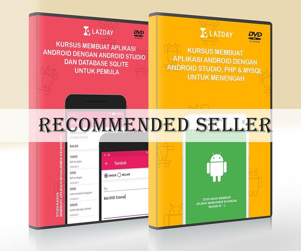 2 DVD Tutorial pembuatan aplikasi android dengan Android Studio - Paket 2
